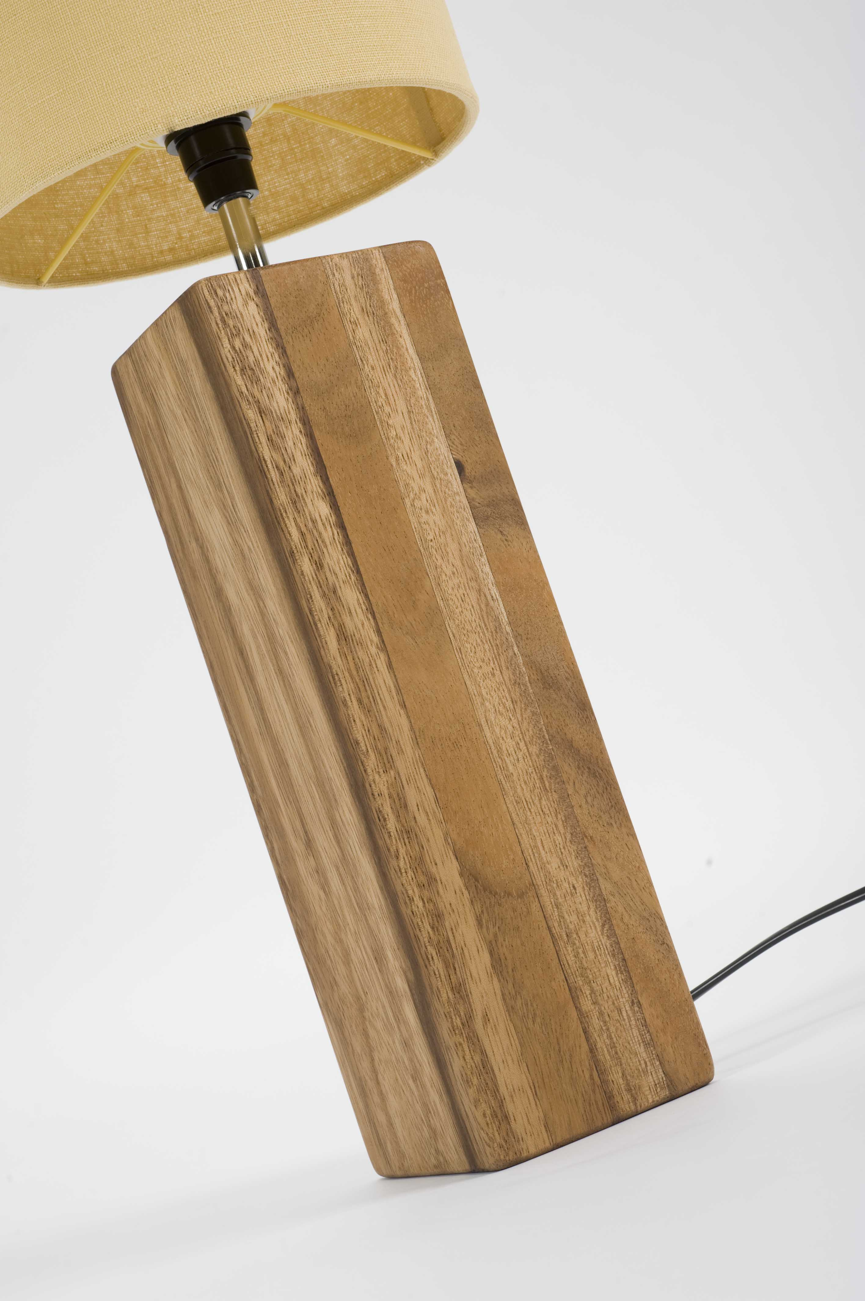 Cube Table Lamp Natural Pr Home